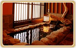 新館の貸切岩風呂