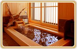 新館の貸切檜風呂